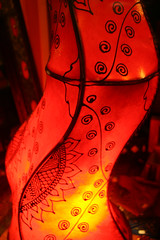 Firey Night (Nirrra) Tags: red india rot lamp night canon germany paper lantern heidelberg 30d
