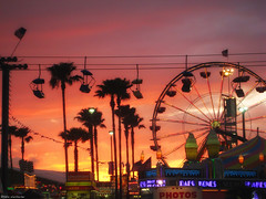florida state fair (katiew) Tags: carnival sunset tampa florida fair palmtree ferriswheel amusementpark rides 2008 hillsborough floridastatefair katieweilbacherphotography