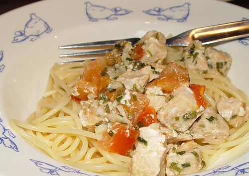 salmon pastamia