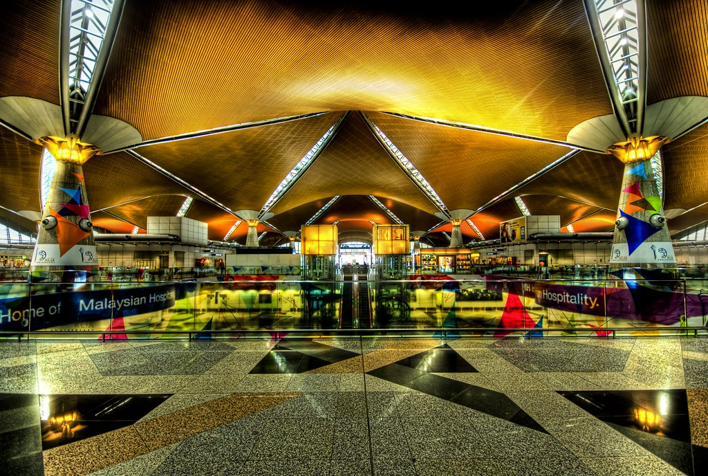 Entering the Kuala Lumpur International Airport