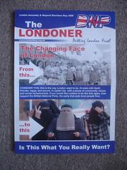 Latest addition of 'The Londoner' has interesting choice in sponsor (mrlerone) Tags: blackandwhite bw london election mayor muslim 1950s leaflet bnp swear terrifying propoganda scaremongering britishnationalparty