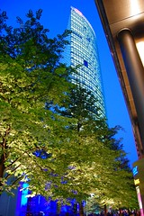 Modern City (Tobi_2008) Tags: city trees berlin modern buildings germany deutschland town nightshot stadt potsdamerplatz bume allemagne soe gebude ville germania nachtaufnahme potsdamsquare cool mywinners abigfave platinumphoto anawesomeshot damn