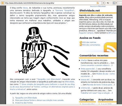 Woww no Efetividade.net