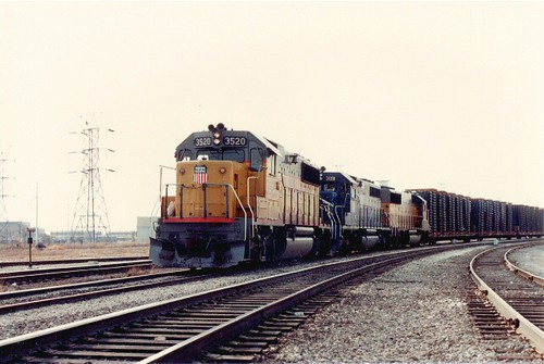Eastbound Union Pacific transfer train. Hayford Junction. Chicago Illinois. March 1985. by Eddie from Chicago