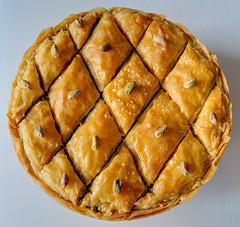 Ana's baklava (Jonathan Palfrey) Tags: photo digital photomatix exposurefusion stilllife baklava sweet pastry dessert food