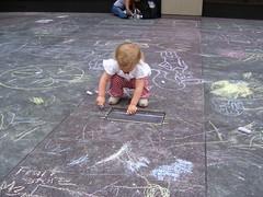 Chalk Artist (Slip Mahoney) Tags: new york people newyorkcity manhattan famous ticktock mrg