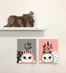 """If you're in the SF area go check out all the beautiful pieces at #Feminamorphe II"""" @wootbearbelly, runs until 3/25 (Andrea Kang) Tags: ifttt instagram painting paint bunny rabbit cute nature art artwork bear wootbear gallery sf obakestyle andreakang illustration"""