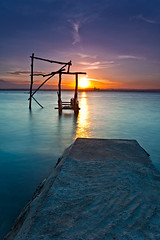 Sunset hues (anthonyserafin) Tags: blue light sunset red sea orange sun 3 seascape art colors beauty yellow azul canon island dock creation hues filters breathtaking lightpainter stops samal gnd singhray 5dmk2 anthonyserafin 3stopsgnd alleluiah