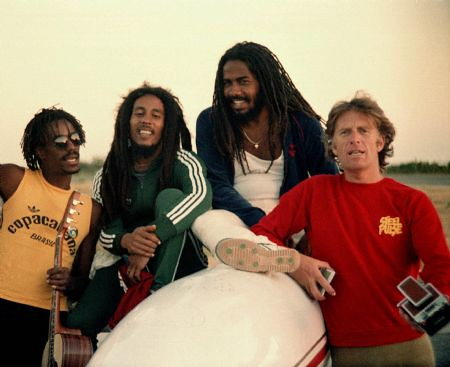 Chris Blackwell with Bob Marley and others