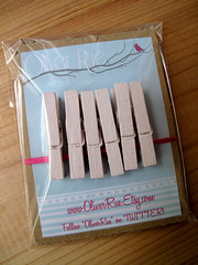 Shabby Chic Painted Clothespins