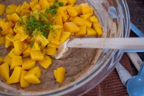 Mango Coconut Bread batter