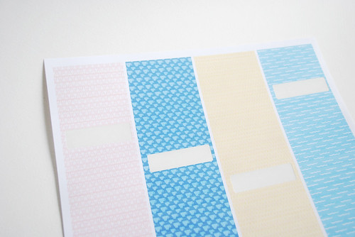 patterned labels