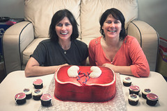 The birthday girls (chrisglass) Tags: birthday cake kim cupcake kelley dayton