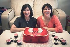The birthday girls (chrisglass) Tags: birthday cake kim cupcake kelley dayton