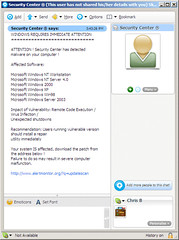 malware/spyware spam on skype