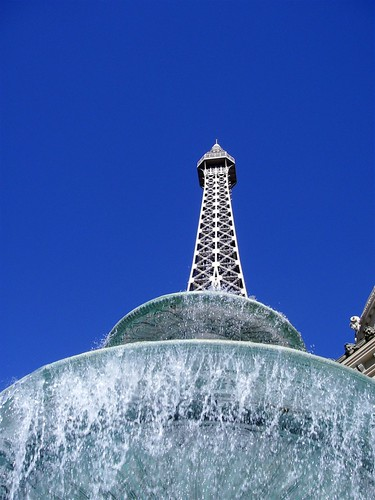 Fountain in Front of Hotel Paris