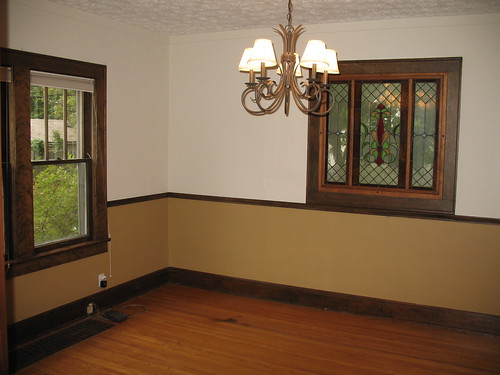 Dining Room (before): northwest corner of the house