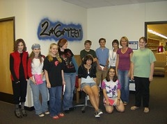The 2-6 Teen Book Club and author April Lurie