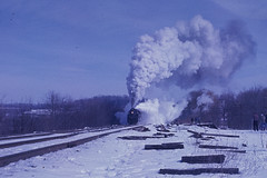 Cold Air, Hot Steam: 2102 in Winter (brooklynparrot) Tags: nyc pc pennsylvania trains nh newhaven 1970s railroads prr penncentral newyorkcentral