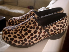 leopard clogs