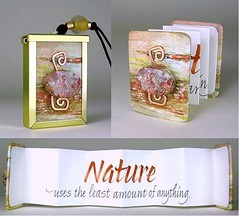 NATURE BOOKLACE - Tiny Book Necklace with a handwritten Calligraphy Quotation (joyouz) Tags: abstract art nature ink handwriting paper cord grey book miniature necklace beads beige jasper quote mixedmedia terracotta unique ooak accordion tiny frame copper swirl calligraphy wearable brass pendant quotation accordionbook italic artistbook cabochon booklace concertino handbinding jalalspagescalligraphicalbum joyouz brassframe framedpendant framependant