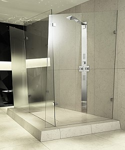 Contemporary-bathroom-with-glass-elements