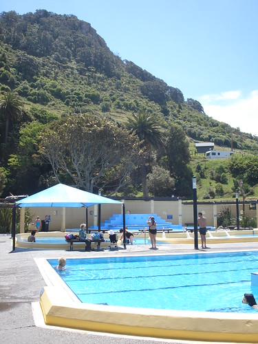 Hot pools de agua salada