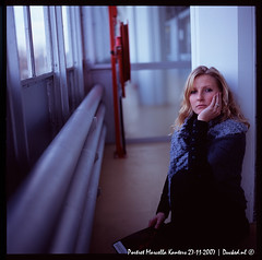 Marcella Portrait 1 (ND-Photo.nl) Tags: blue portrait black andy girl dia hasselblad blond blonde fujifilm portret 503 marcella planar 503cw kanters ramdin digitalphotoexposition