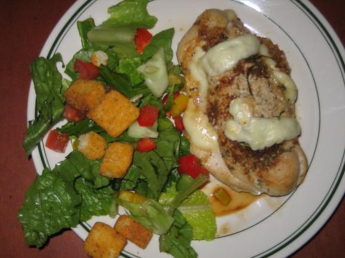 Cooked Moist Chicken Mozzarella