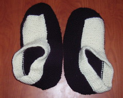 Slippers before felting