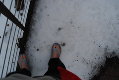 Snow And My Feet On The Deck