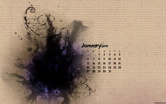 January 2008 Calendar (kriegs) Tags: desktop wallpaper abstract art digital photoshop artwork calendar widescreen january desktopwallpaper 1920x1200