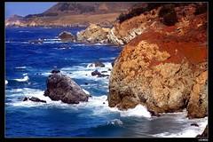 nEO_IMG_IMG_3675 (c0466art) Tags: california road blue light red sea sky usa cloud mountain color water canon landscape coast scenery wave