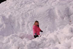 we played in the snow banks, too