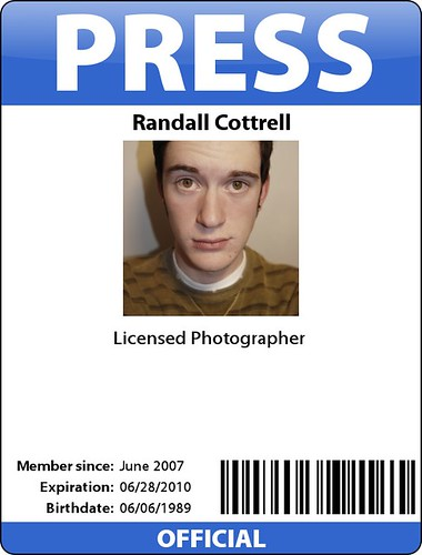 licensed photographer badge lol