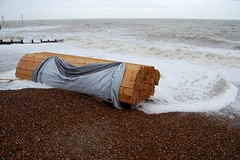 Timber from ship wreck on Hove Beach (Leonski) Tags: wood sea storm beach warning photo seaside brighton flickr ship image photos pics timber hove picture pic images cargo explore shipwreck washed wreck salvage sank explored leonski iceprince