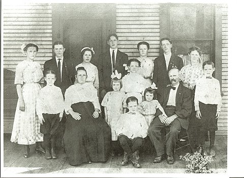 My Paternal Grandmother with Her Siblings & Parents, circa 1910