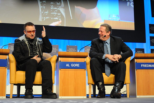 Bono and Al Gore talk about Poverty and Global Warming