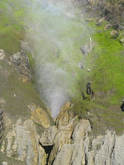 Letting off some Steam (freelancing god) Tags: newzealand blowhole punakaiki