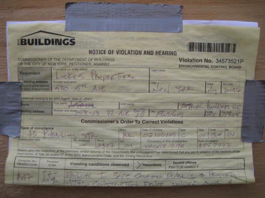 33 Roebling Violation