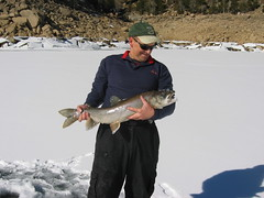 Eric With 31 Inch Lake Trout (fethers1) Tags: icefishing laketrout grossreservoir