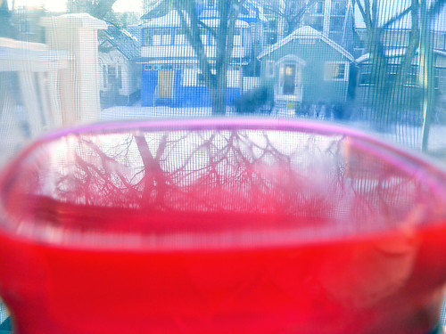 pink laundry water