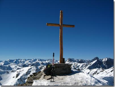 La vetta del Monte Tibert