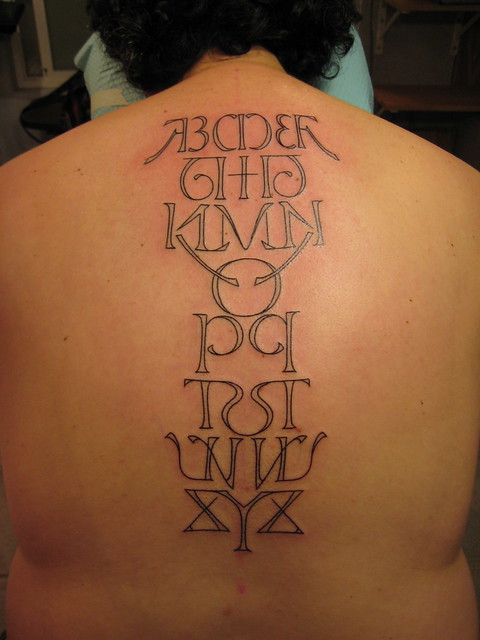 Alphabet Tattoo. www.shannonarchuleta.com. Ambigram created by either Scott