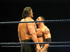 The stare down (Sir Awesome) Tags: tour great perth dome wwe burswood batista khali summerslam