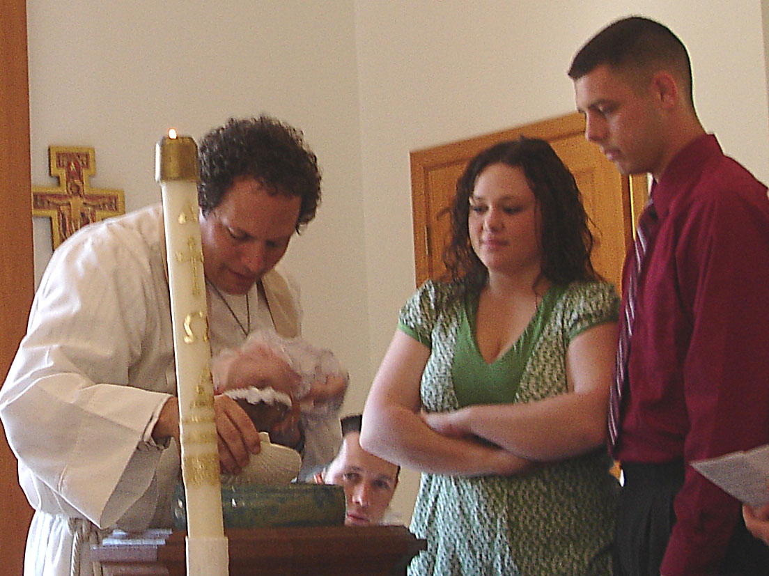 Laina is baptized