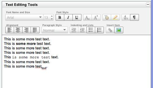 YUI text editor