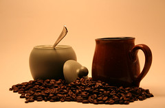 Best part of waking up..... (Metering) Tags: cup coffee beans mug lightbox sugarbowl