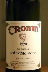 "1990 Cronin ""Joe's Cuvee"" California Red Table Wine"