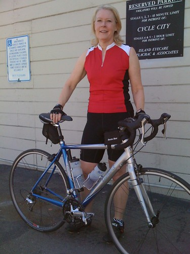 The fabulous Ms. L and her Lemond road bike by Cold Iron.